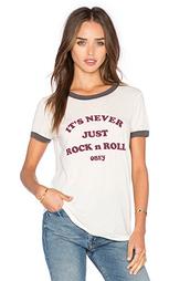 Футболка с рисунком never just rock n roll - Obey