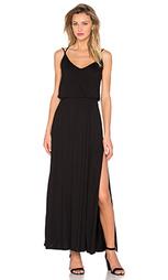 Макси платье с перекрестными шлейками - David Lerner