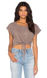 Укороченная футболка с завязкой - Lanston