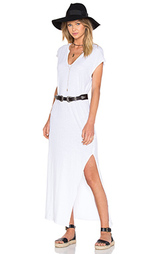 Макси платье cap sleeve v neck - LNA