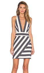Платье с глубоким v-образным вырезом и перекрестными шлейками сзади - MILLY