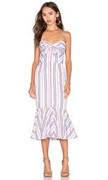 Полосатое платье с завязкой - NICHOLAS