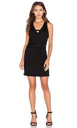 Мини платье с v-образным вырезом и перекрестными шлейками - Lanston