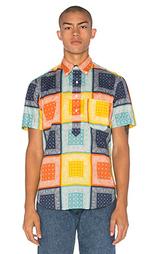 Рубашка с частичной застёжкой - Gitman Vintage