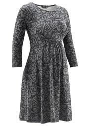 Мода для будущих мам: праздничное платье с кружевным принтом (серо-голубой/сине-зеленый с уз) Bonprix