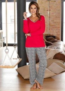 Пижама (красный/леопардовый) Bonprix