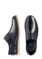 Кожаные туфли на шнурках (черный) Bonprix