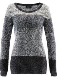 Пуловер (кленово-красный в полоску) Bonprix