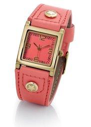 Часы на ремешке с заклепками (бирюзовый/серебристый) Bonprix
