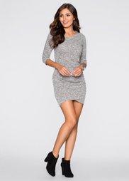 Трикотажное платье (антрацитовый меланж) Bonprix