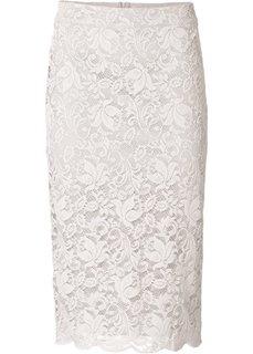 Кружевная юбка (сиреневый) Bonprix