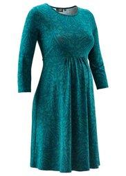 Мода для будущих мам: праздничное платье с кружевным принтом (шиферно-серый/черный с узором) Bonprix