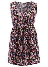 Блузка дизайна Maite Kelly (цвет белой шерсти в цветочек) Bonprix
