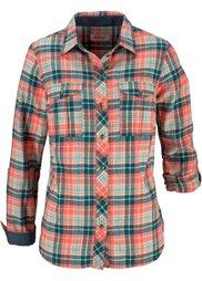 Фланелевая рубашка (бордовый/натуральный/темно-син) Bonprix