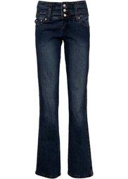 Джинсы-стретч Bootcut, низкий рост (K) (темно-синий «потертый») Bonprix