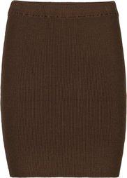 Вязаная юбка (черный) Bonprix