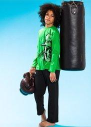 Пижама (комплект из 2-х изделий) (цвет спаржи/черный) Bonprix