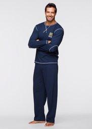 Пижама (темно-синий) Bonprix