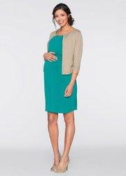 Мода для беременных: платье с кружевом (изумрудный) Bonprix