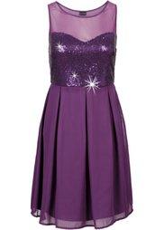 Шифоновое платье с пайетками (ночная синь) Bonprix