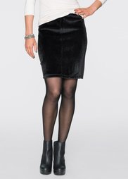 Юбка с искусственным мехом (черный) Bonprix