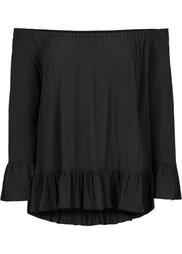Блузка с вырезом-кармен (цвет белой шерсти) Bonprix