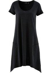 Платье из трикотажа фламе (бордово-коричневый) Bonprix