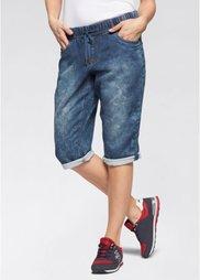Спортивные брюки 3/4, cредний рост (N) (синий) Bonprix