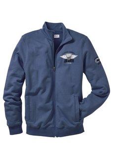 Трикотажная куртка с воротником-стойкой Regular Fit (оливковый) Bonprix