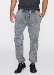 Трикотажные брюки Slim Fit (серый) Bonprix
