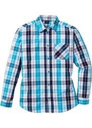 Клетчатая рубашка Regular Fit с длинным рукавом (красный/черный/белый в клетку) Bonprix