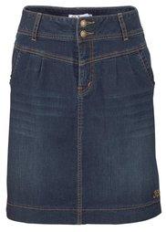Джинсовая юбка-стретч (голубой выбеленный) Bonprix