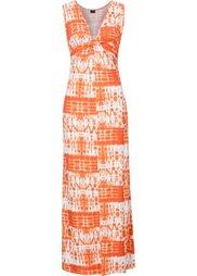 Макси-платье с драпировкой в узел (цвет белой шерсти батик/синий) Bonprix