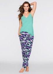 Пижама (зеленый океан/темно-синий с пр) Bonprix