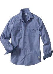 Рубашка Regular Fit с длинным рукавом (омаровый в полоску) Bonprix