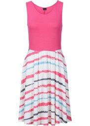 Платье в полоску (синий с рисунком) Bonprix