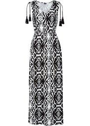 Макси-платье с этническим принтом (коричневый/бирюзовый с узором) Bonprix