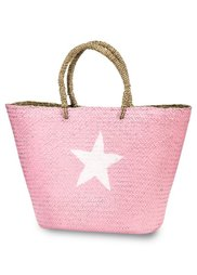 Соломенная сумка Звезда (мятный/белый) Bonprix