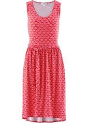Трикотажное платье (индиго/цвет белой шерсти с рис) Bonprix
