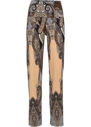 Трикотажные брюки (синий с рисунком) Bonprix