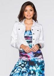 Джинсовая куртка (белый) Bonprix