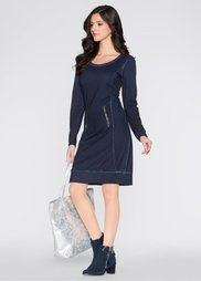 Платье (темно-синий «потертый») Bonprix