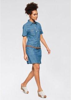 Джинсовое платье-стретч (синий) Bonprix