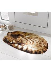 Грязезащитный коврик Кот (коричневый) Bonprix