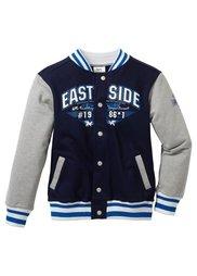 Колледжская куртка, Размеры 116/122-164/170 (темно-изумрудный/антрацитовый ) Bonprix