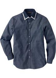 Деловая рубашка Regular Fit (шиферно-серый/белый с узором) Bonprix