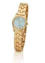 Часы на металлическом браслете (серебристый/нежно-розовый) Bonprix