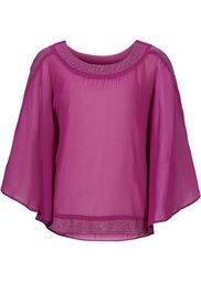 Блузка с блестящими камешками (цвет белой шерсти/золотистый) Bonprix