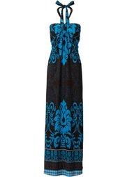 Макси-платье (черный/красная ягода с принтом) Bonprix