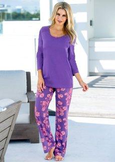 Пижама (лиловый в цветочек) Bonprix